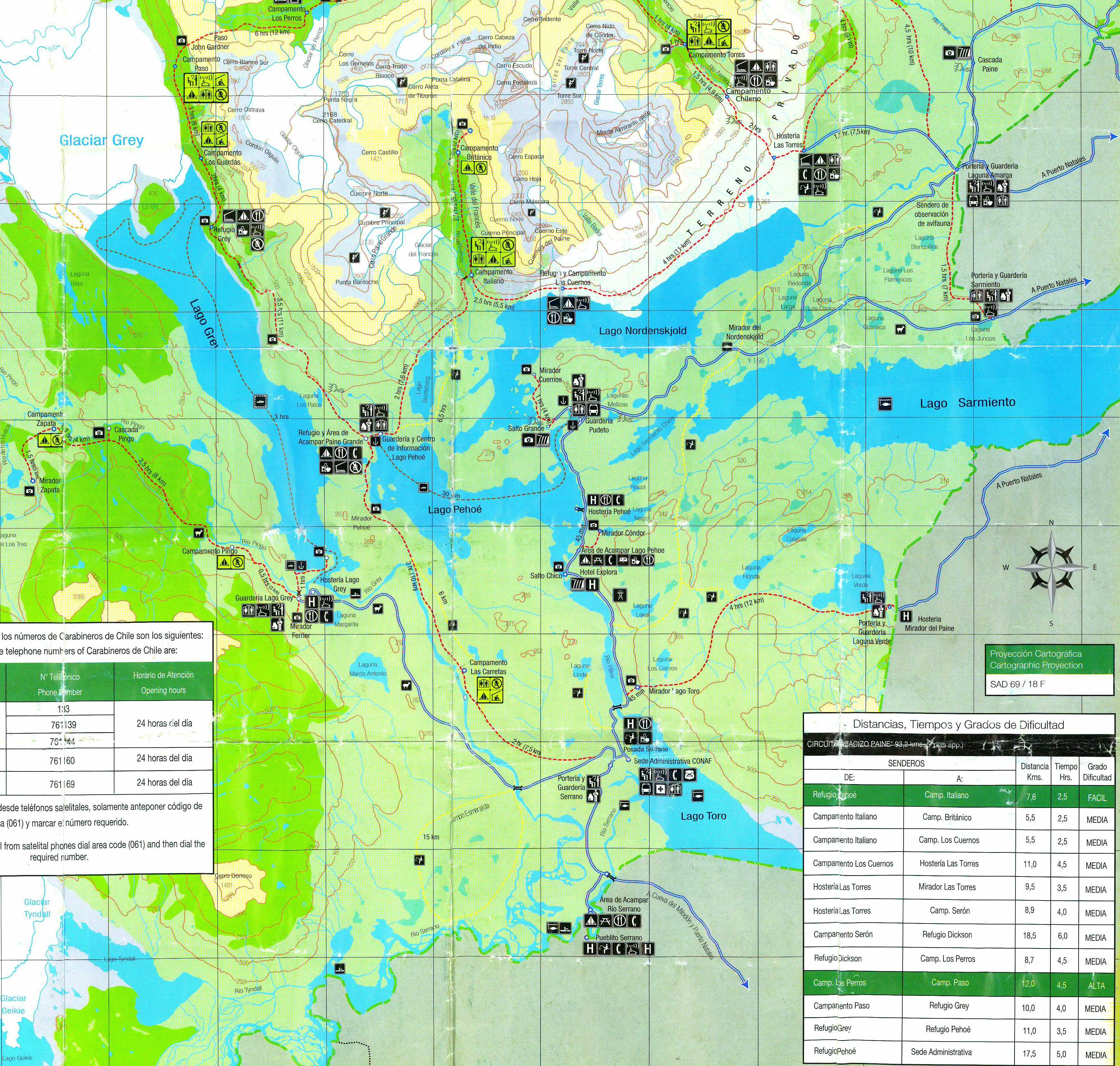 torres del paine map with Karten 2009 on Hotel Las Torres Patagonia in addition Los Glaciares likewise Stock Image Scenic Landscape Patagonia South America Image26245271 also Destinations W Trek Torres Del Paine National Park 2 further Mountains trees horse national park Torres del Paine National Park Chile Patagonia autumn.